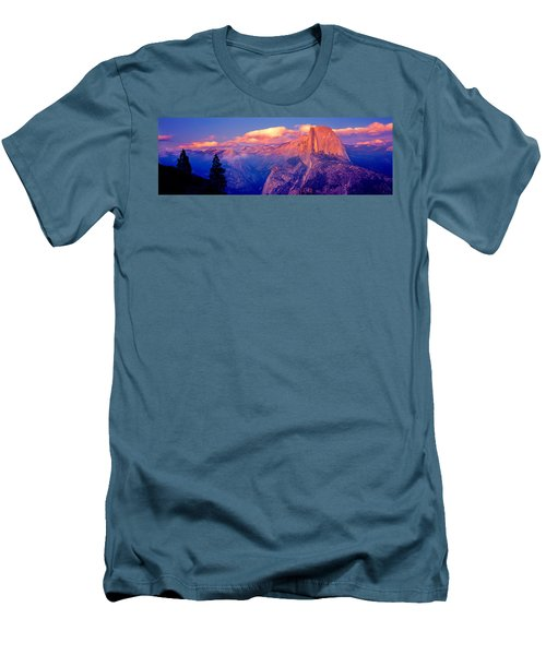 Sunlight Falling On A Mountain, Half Men's T-Shirt (Slim Fit) by Panoramic Images
