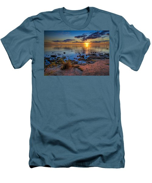 Sunrise Over Lake Michigan Men's T-Shirt (Slim Fit) by Scott Norris