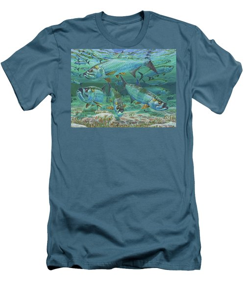 Tarpon Rolling In0025 Men's T-Shirt (Slim Fit) by Carey Chen