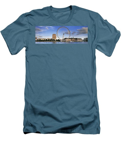 The London Eye Men's T-Shirt (Slim Fit) by Rod McLean