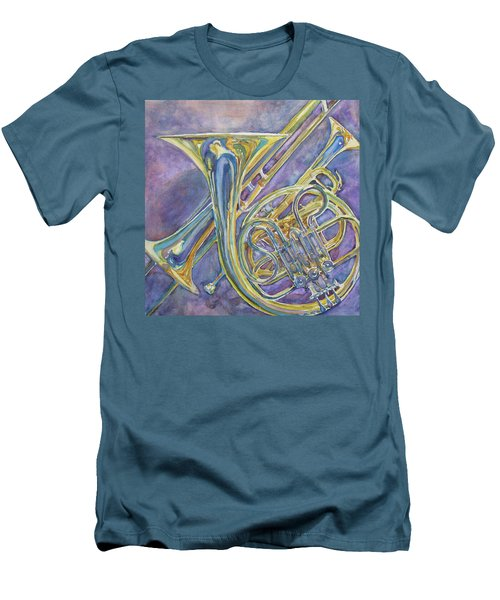 Three Horns Men's T-Shirt (Slim Fit) by Jenny Armitage