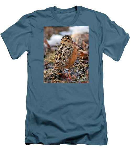 Timberdoodle The American Woodcock Men's T-Shirt (Slim Fit) by Timothy Flanigan