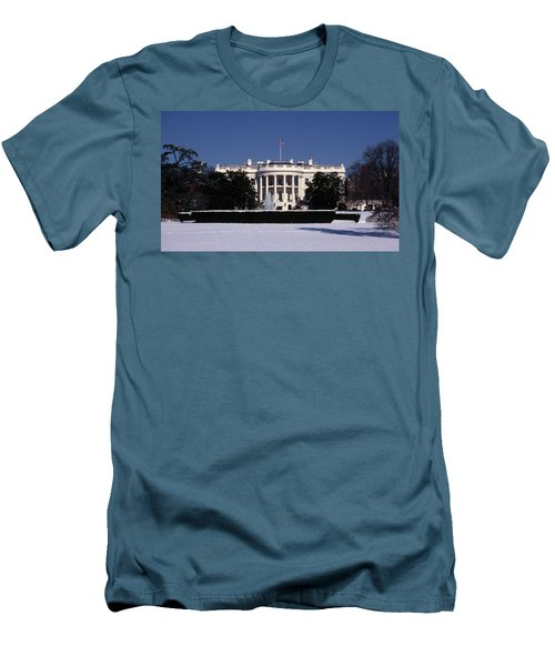 Winter White House  Men's T-Shirt (Slim Fit) by Skip Willits