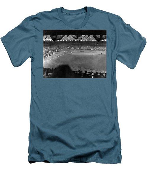 Yankees Defeat Giants Men's T-Shirt (Slim Fit) by Underwood Archives