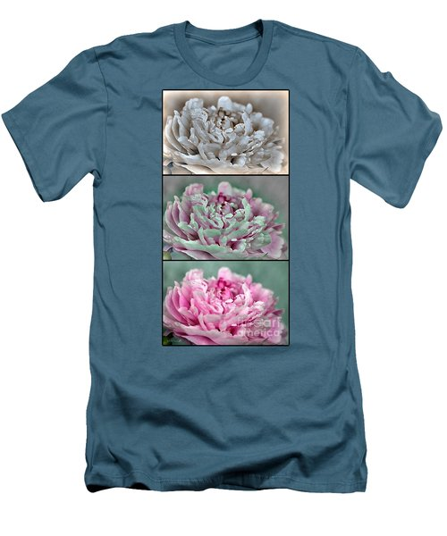 Peony Named Shirley Temple Men's T-Shirt (Slim Fit) by J McCombie