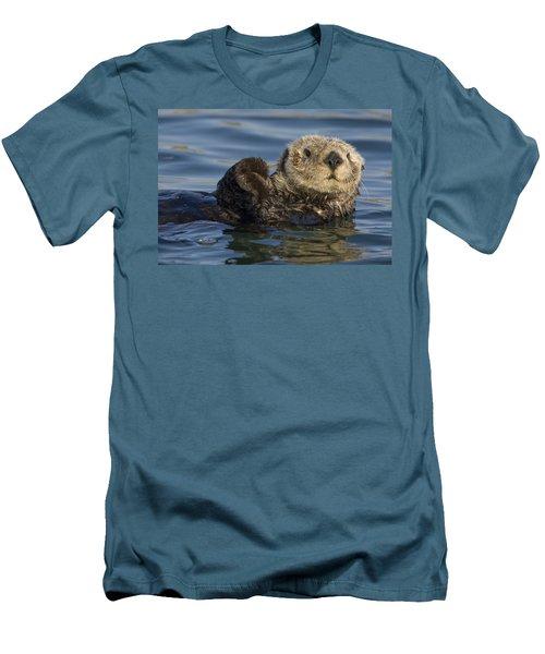 Sea Otter Monterey Bay California Men's T-Shirt (Slim Fit) by Suzi Eszterhas