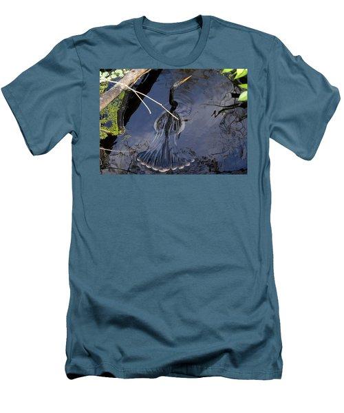 Swimming Bird Men's T-Shirt (Slim Fit) by David Lee Thompson
