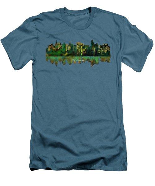 London England Skyline Men's T-Shirt (Slim Fit) by John Groves