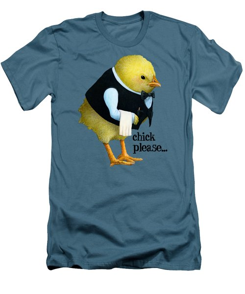 Chick Please... Men's T-Shirt (Slim Fit) by Will Bullas