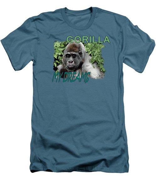 Gorilla My Dreams Men's T-Shirt (Slim Fit) by Joseph Juvenal