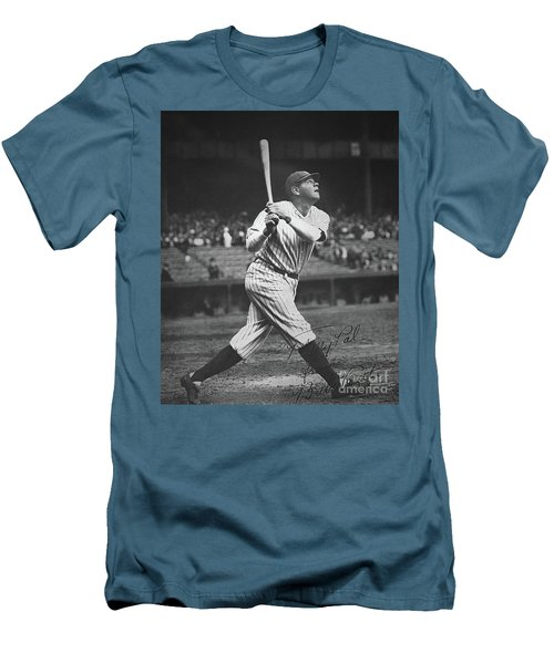 Babe Ruth  Men's T-Shirt (Slim Fit) by American School