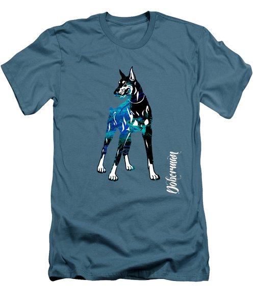 Doberman Pinscher Collection Men's T-Shirt (Slim Fit) by Marvin Blaine