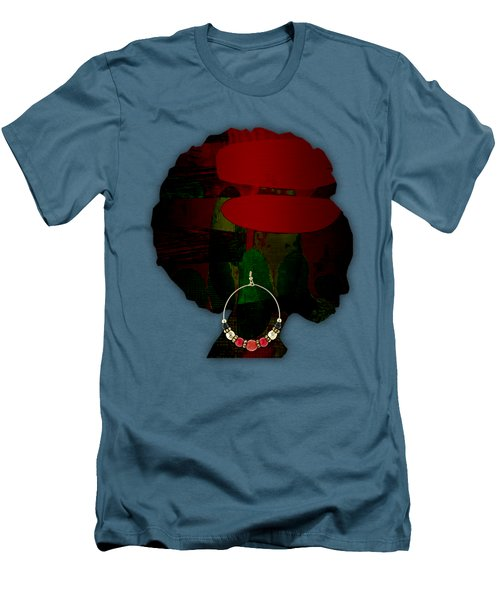 African Beauty Men's T-Shirt (Slim Fit) by Marvin Blaine