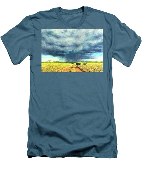 African Storm Men's T-Shirt (Slim Fit) by Tilly Willis