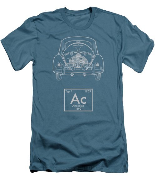 Aircooled Element - Beetle Men's T-Shirt (Slim Fit) by Ed Jackson