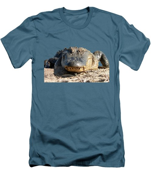 Alligator Approach .png Men's T-Shirt (Slim Fit) by Al Powell Photography USA