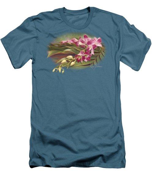 Dendrobium Orchids Men's T-Shirt (Slim Fit) by Lucie Bilodeau