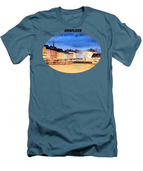 Honfleur  Evening Lights Men's T-Shirt (Slim Fit) by Bill Holkham