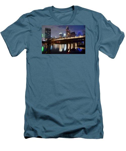 Austin From Below Men's T-Shirt (Slim Fit) by Frozen in Time Fine Art Photography