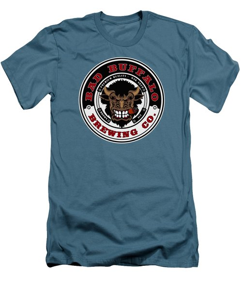 Bad Buffalo Brewing Men's T-Shirt (Slim Fit) by Christopher Williams