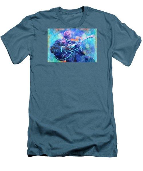 Bb King Men's T-Shirt (Slim Fit) by Dan Sproul