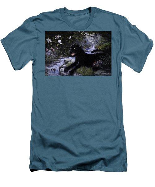 Black Panther Men's T-Shirt (Slim Fit) by Charles Kim
