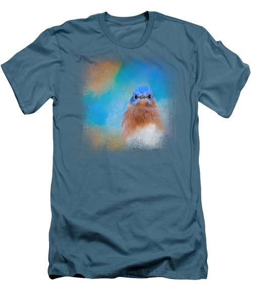 Blue Is Beautiful Men's T-Shirt (Slim Fit) by Jai Johnson