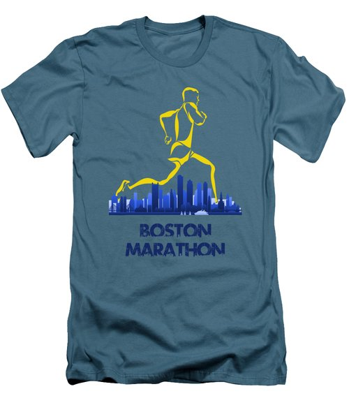 Boston Marathon5 Men's T-Shirt (Slim Fit) by Joe Hamilton