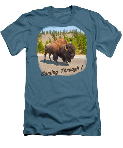 Buffalo Men's T-Shirt (Slim Fit) by John M Bailey