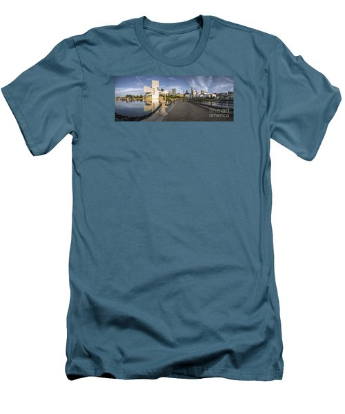 Cleveland Panorama Men's T-Shirt (Slim Fit) by James Dean