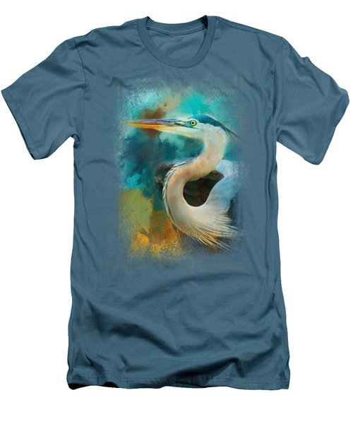 Colorful Expressions Heron Men's T-Shirt (Slim Fit) by Jai Johnson