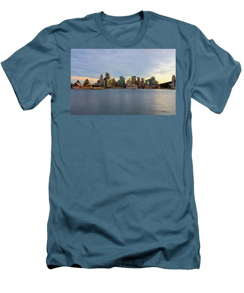 Cruiseship Sunset Men's T-Shirt (Slim Fit) by Petar Belobrajdic
