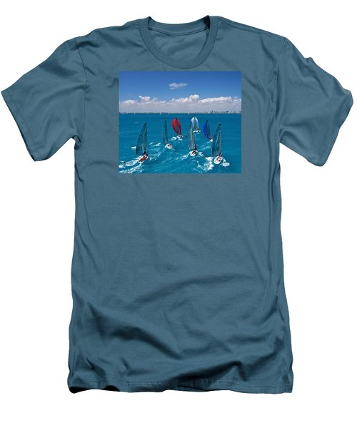 Downwind To Miami Men's T-Shirt (Slim Fit) by Steven Lapkin