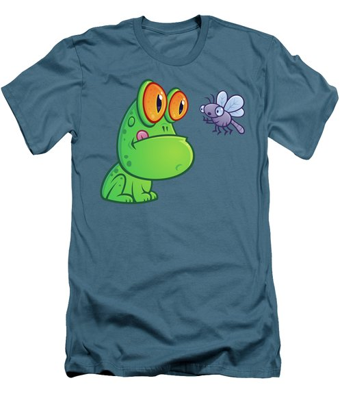 Frog And Dragonfly Men's T-Shirt (Slim Fit) by John Schwegel