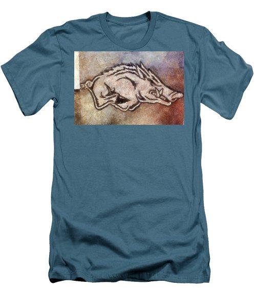 Go Hogs Go  Men's T-Shirt (Slim Fit) by Dawn Bearden