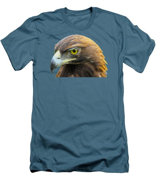 Golden Eagle Men's T-Shirt (Slim Fit) by Shane Bechler