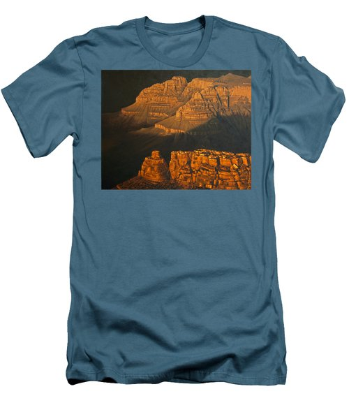 Grand Canyon Meditation Men's T-Shirt (Slim Fit) by Jim Thomas