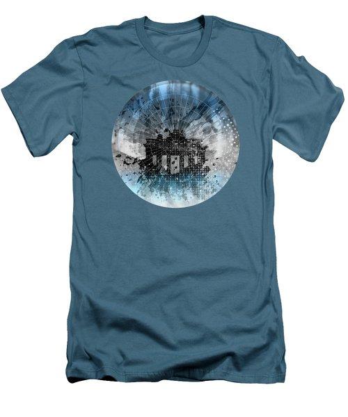 Graphic Art Berlin Brandenburg Gate Men's T-Shirt (Slim Fit) by Melanie Viola