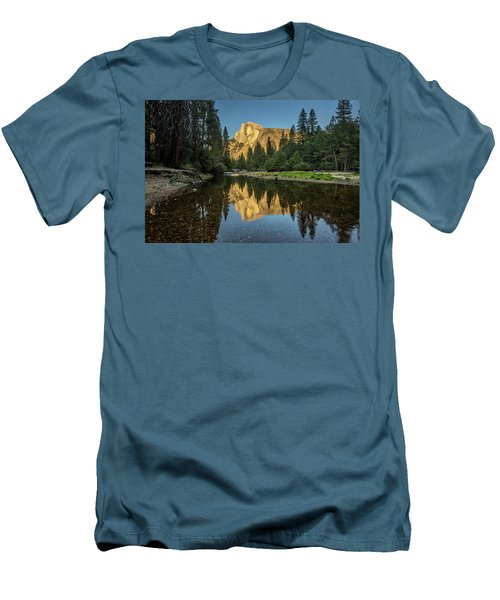Half Dome From  The Merced Men's T-Shirt (Slim Fit) by Peter Tellone