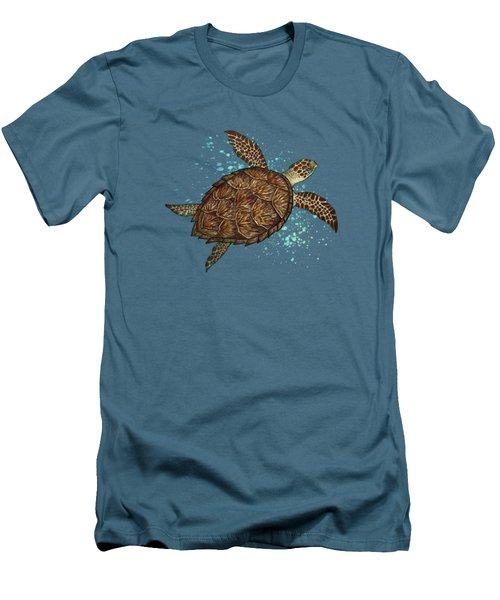 Hawksbill Sea Turtle Men's T-Shirt (Slim Fit) by Amber Marine