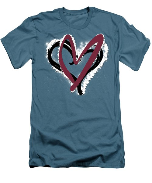 Hearts Graphic 6 Men's T-Shirt (Slim Fit) by Melissa Smith