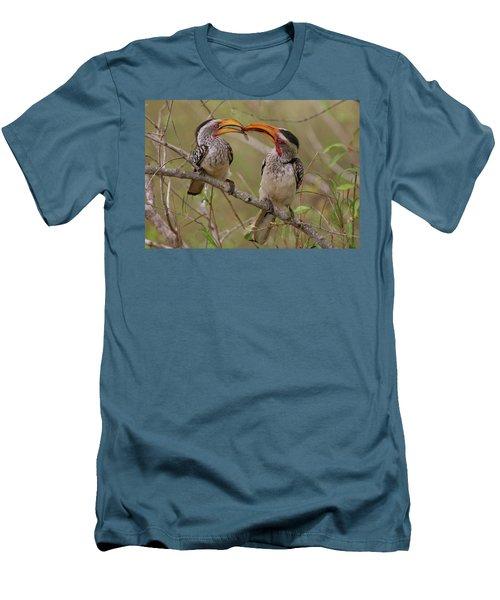 Hornbill Love Men's T-Shirt (Slim Fit) by Bruce J Robinson