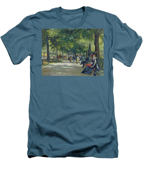 Hyde Park - London  Men's T-Shirt (Slim Fit) by Count Girolamo Pieri Nerli