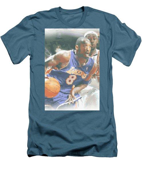 Kobe Bryant Lebron James Men's T-Shirt (Slim Fit) by Joe Hamilton