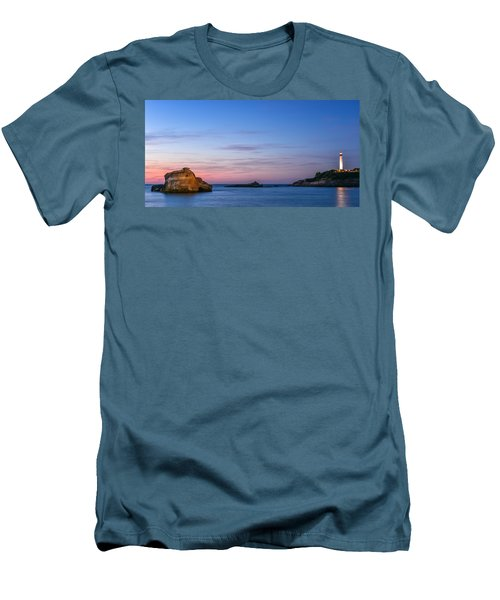 Men's T-Shirt (Slim Fit) featuring the photograph Le Phare De Biarritz by Thierry Bouriat