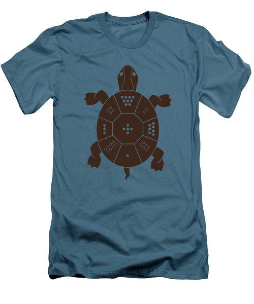 Lo Shu Turtle Men's T-Shirt (Slim Fit) by Thoth Adan