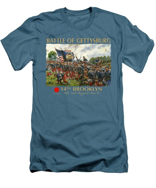 Men Of Brooklyn Men's T-Shirt (Slim Fit) by Mark Maritato