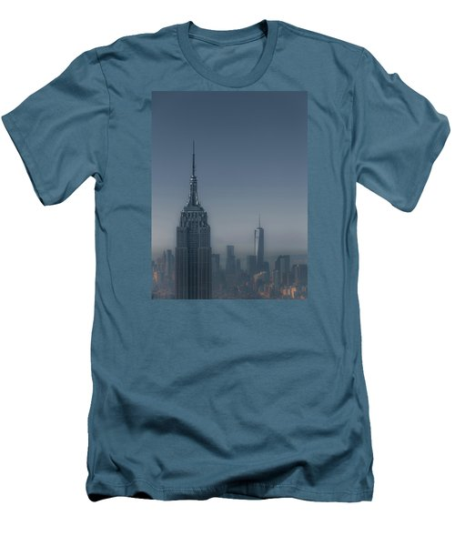 Morning In New York Men's T-Shirt (Slim Fit) by Chris Fletcher