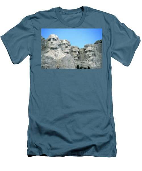 Mount Rushmore Men's T-Shirt (Slim Fit) by American School