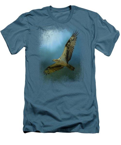 Osprey In The Evening Light Men's T-Shirt (Slim Fit) by Jai Johnson